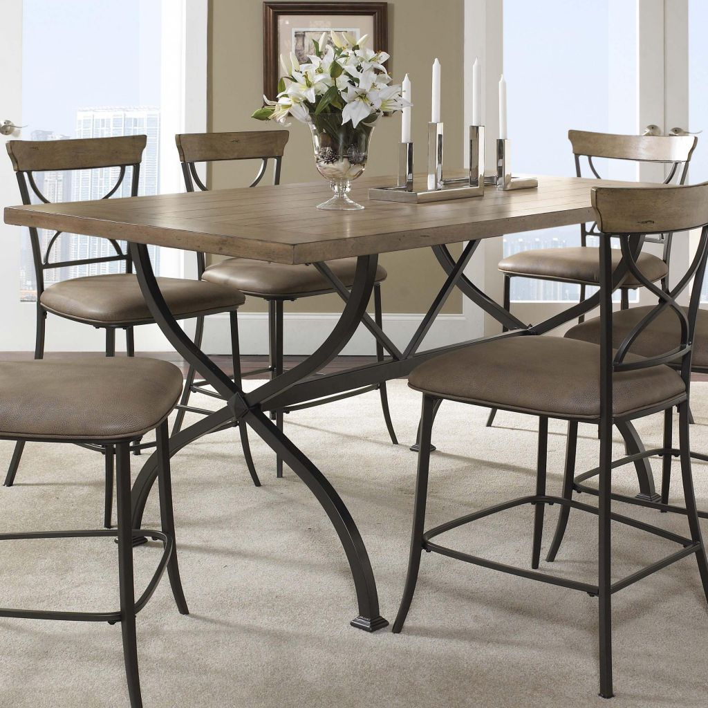 Hillsdale Charleston Rectangle Wood Counter Height Dining Table